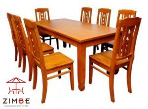 Bộ bàn ghế ăn gia đình 8 ghế BA002