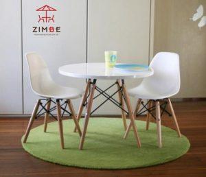 Bộ bàn ghế nhựa chân gỗ cao cấp BGN001