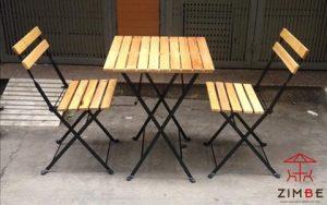 Bộ bàn ghế gỗ cafe BGC006