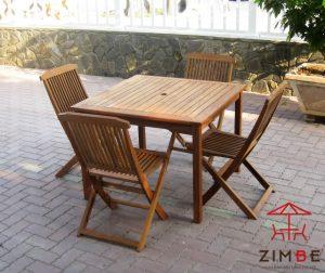 Bộ bàn ghế cafe gỗ sồi BGC005