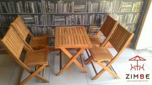 Bộ bàn ghế gỗ cafe BGC007