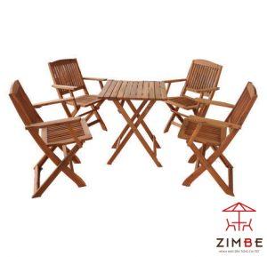 Bộ bàn ghế gỗ cafe BGC008