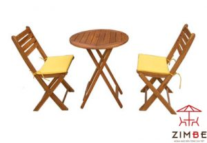 Bộ bàn ghế gỗ cafe BGC009