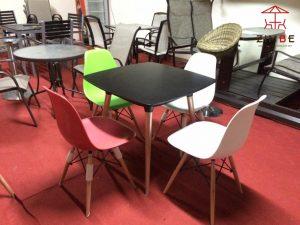 Bộ bàn ghế nhựa cafe cao cấp BGN006