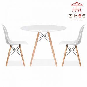 Bộ bàn ghế cafe nhựa chân gỗ cao cấp BGN007