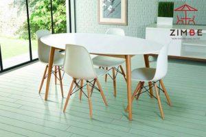 Bộ bàn ghế cafe nhựa cao cấp chân gỗ BGN008