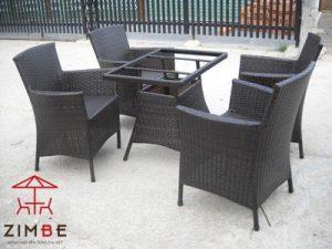 Bộ bàn ghế mây cafe BGM004